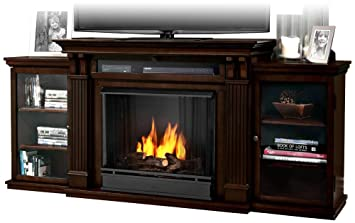 Amazon.com: Real Flame Calie Entertainment Center Ventless Gel ...