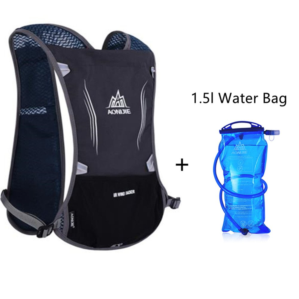 Amazon.com: AONIJIE Running Vest Pack Water Hydration Backpack Cycling Bag Water Bladder Holder Large Space 1.5L Water Bladder,Black: Sports & Outdoors