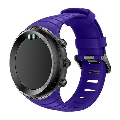 Montre connectée Bracelet de Montre Remplacement Suunto Core Bracelet, Bracelet de Remplacement Souple avec Fermoir Métal pour Suunto Core SmartWatch ...