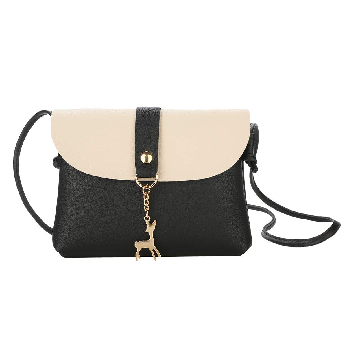 7d15c62f1c5 Small Crossbody Purse for Women With Pendant,PU Leather Crossbody Bag With  Strap Cell Phone Bag for Girl