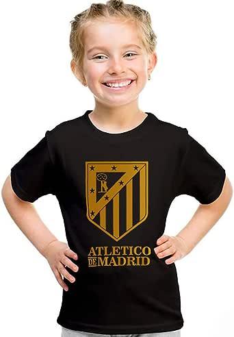 kharbashat atletico Madrid T-Shirt for Girls, Size 32 EU, Black
