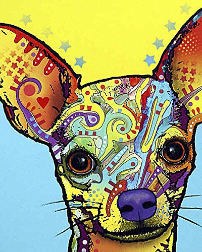 Chihuahua Dean Russo Animal Dog Contemporary Poster (Choose Size, Print or Canvas) by Picture Peddler