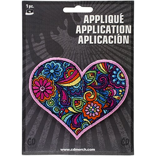 Application DSX Love Paisley Heart Patch - Paisley Hearts