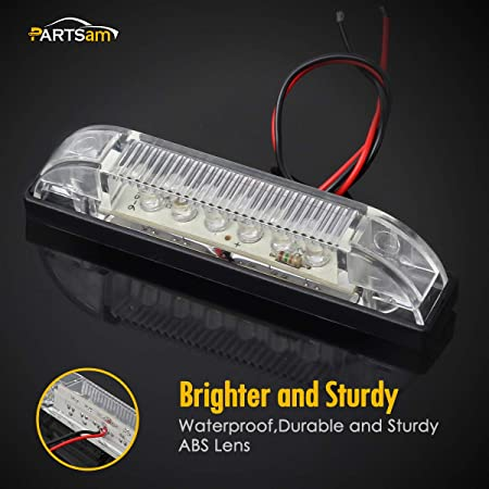 Partsam 2X 4 Red Led Utility Strip Bar 6 Diodes Waterproof Boat Marine RV Camper Red LED Strip Light Maker Light 4 Thinline Utility Light Indoor and Outdoor Lighting Surface Mount