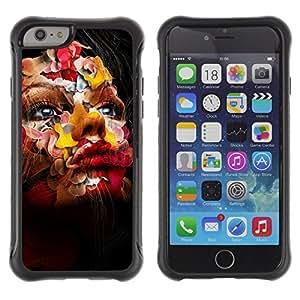 ZAKO Cases / Apple Iphone 6 PLUS 5.5 / Abstract Face / Robusto Prueba de choques Caso Billetera cubierta Shell Armor Funda Case Cover Slim Armor