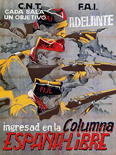 WAR PROPAGANDA SPANISH CIVIL CNT FAI REPUBLICAN SPAIN VINTAGE AD POSTER 2789PY by Wee Blue Coo Prints