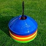World Sport Multi Color 50 Disc Cone Set with Carrier