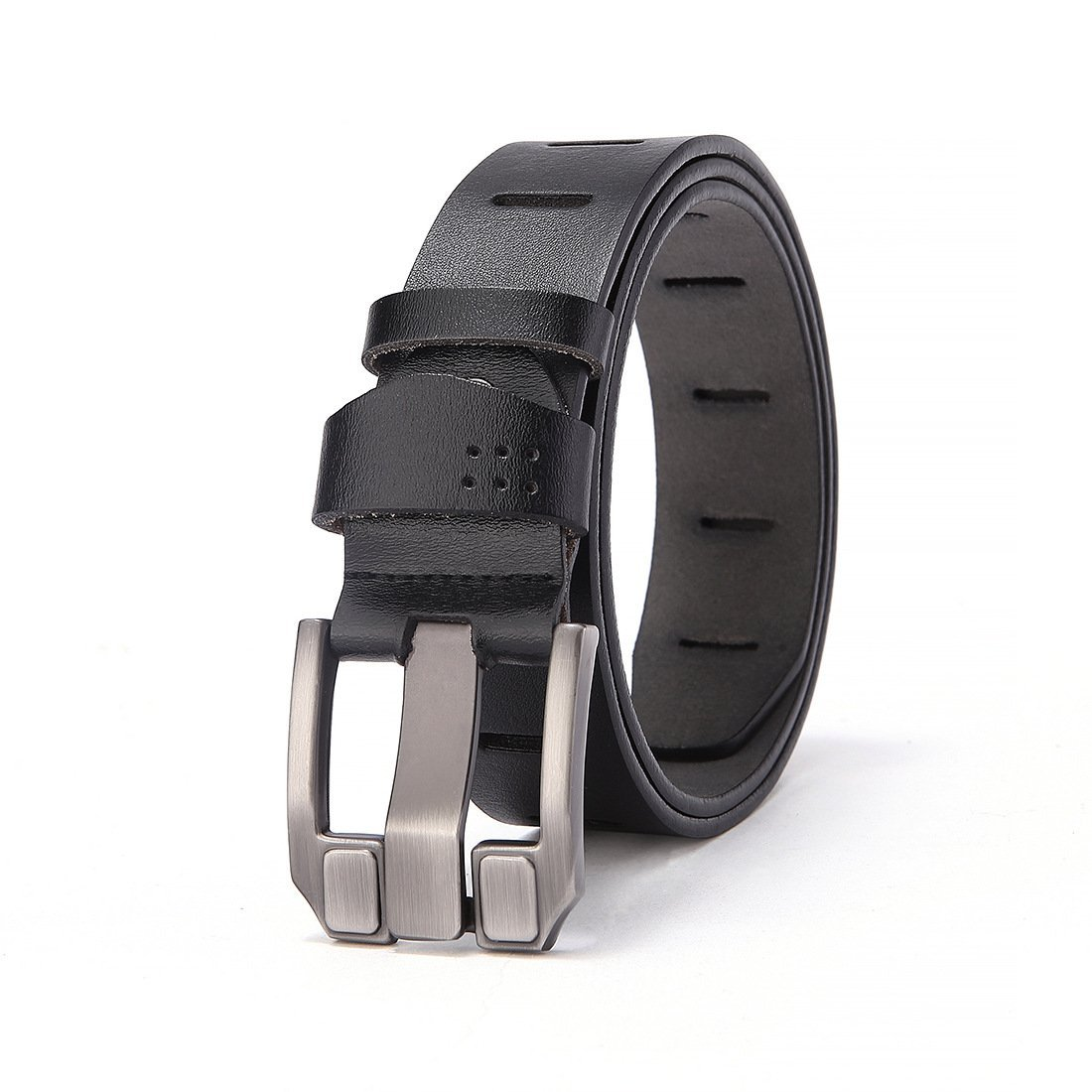 Pin Buckle Adjustable,Anti-Scratch Pin Buckle,Stylish Formal Business Work,Jeans /& Casual Wear /& Cowboy Wear /& Work Clothes Uniforms,A,115 XUEXUE Mens Business Belt