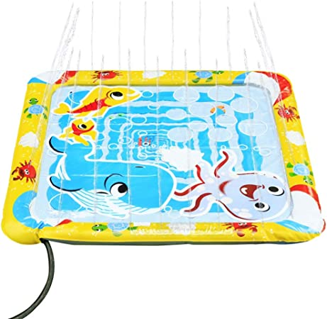 KLEEGER Baby Wading Kiddie Pool: Outdoor Squirt & Splash Water Fun For Toddlers, Simple Instant S...