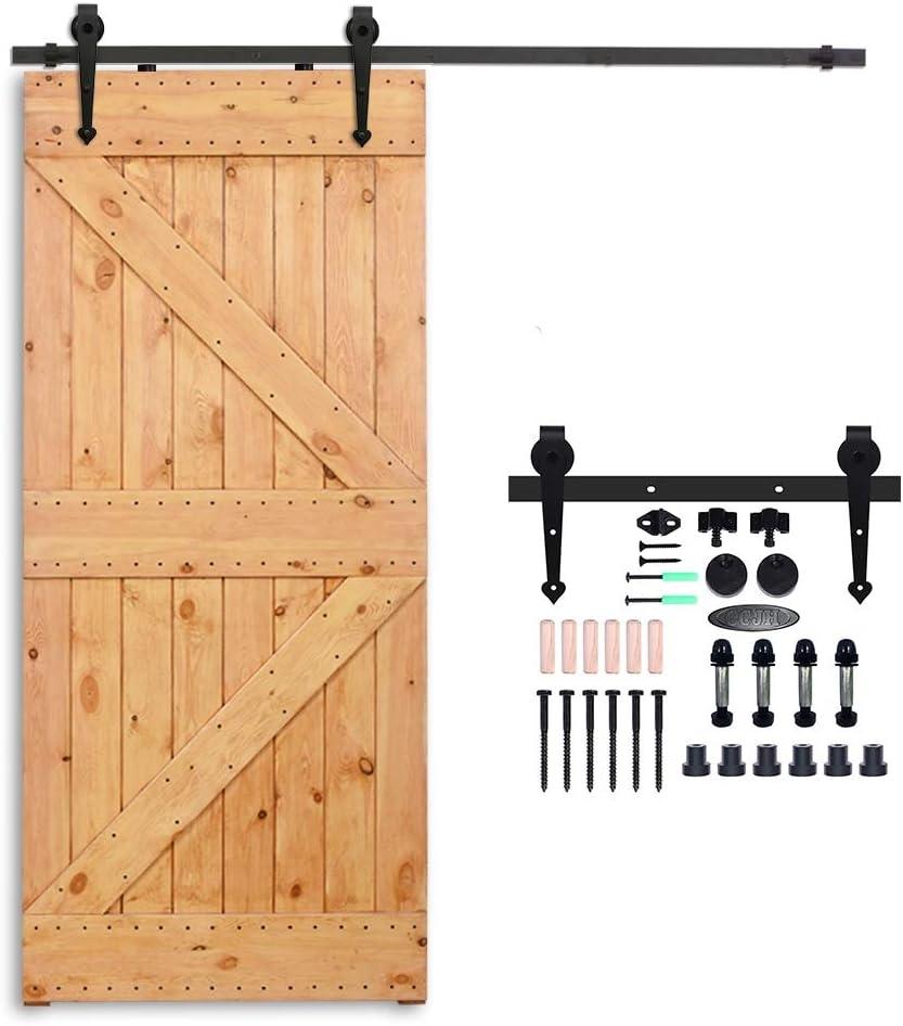 CCJH Country - Kit de herramientas para puerta corredera de acero para interior: Amazon.es: Bricolaje y herramientas