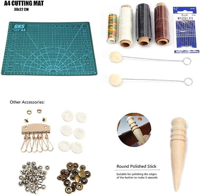 Herramientas de costura de cuero, juego de 28 herramientas de ...