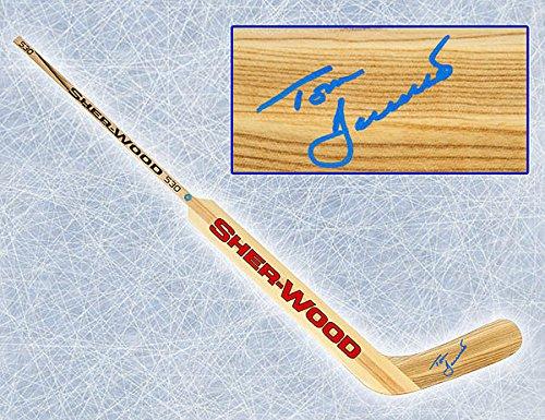 Tom Barrasso Autographed Sher-Wood Goalie Stick - Authentic Autographed Autograph ()