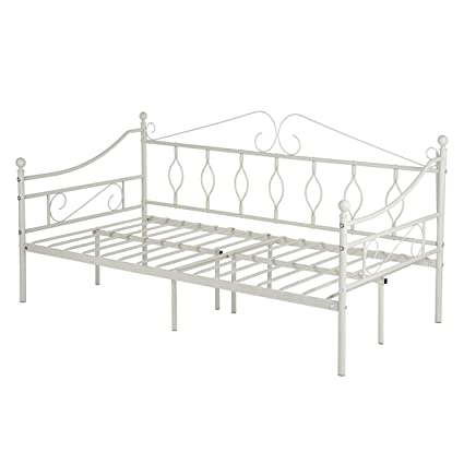 Amazon.com: GreenForest Daybed Metal Bed Frame Twin Size Steel Slat ...
