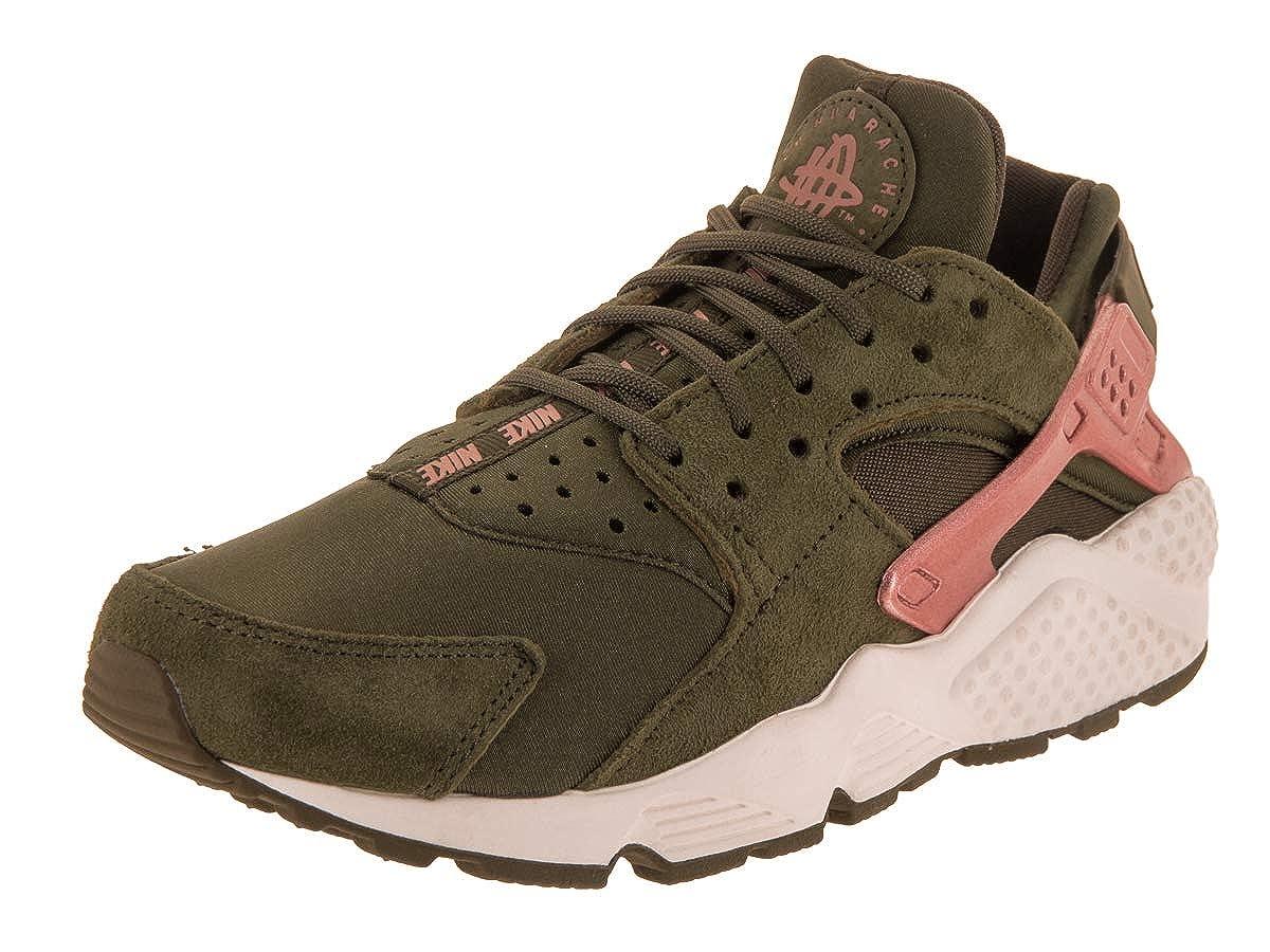 Olive Canvas Mtlc pink gold 7 B(M) US Nike Women's Air Huarache Run LowTop Sneakers