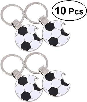 STOBOK Llaveros del balón de fútbol de la Llave del abrebotellas ...