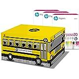 HP Printer Paper 8.5x11 MultiPurpose 20 lb School Bus 3 Ream Case 1500 Sheets 96 Bright Made in USA FSC Certified Copy…