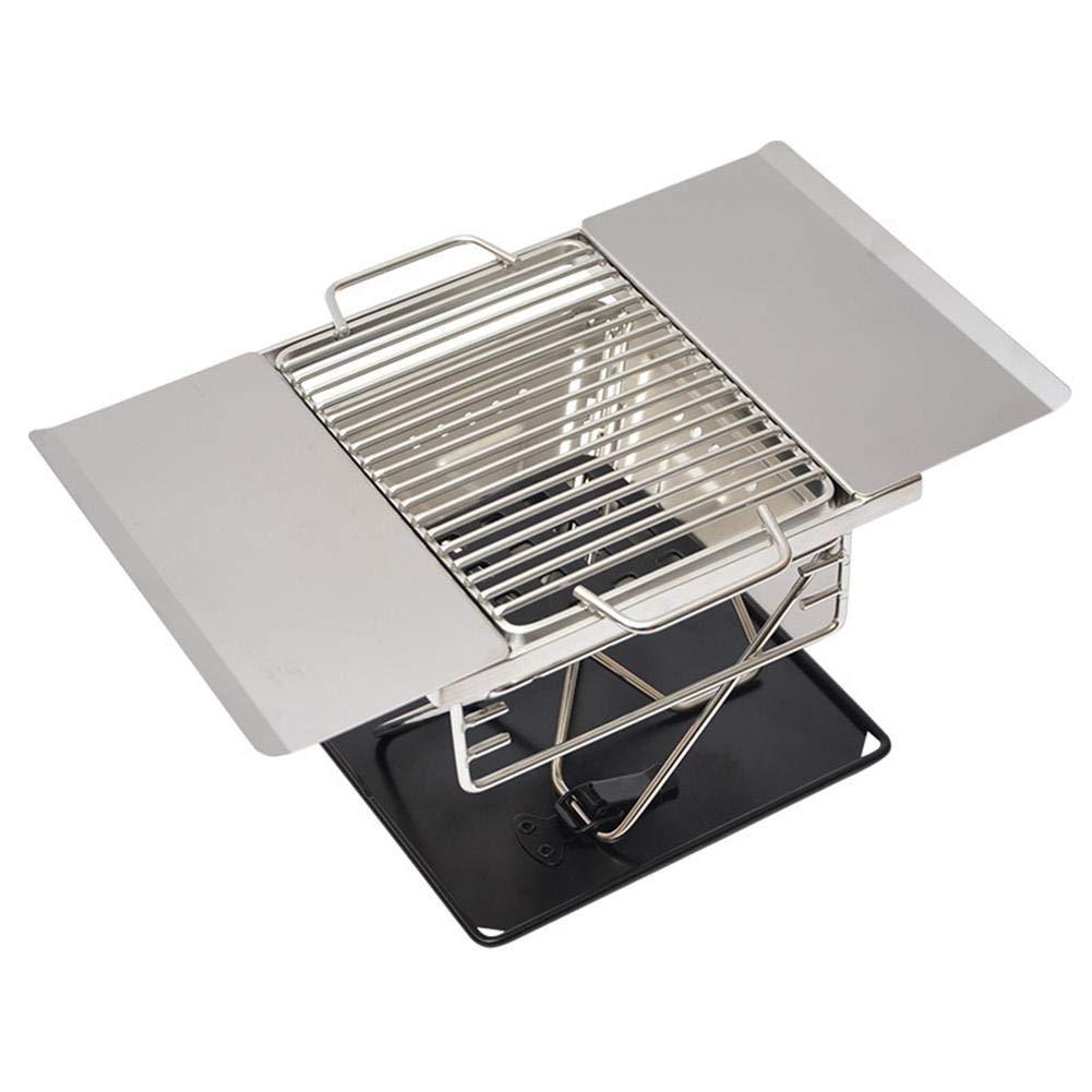 AITOCO Griglia a Carbone in Acciaio Inox Pieghevole Barbecue da Campeggio Grill Grill Portatile per Barbecue all'aperto