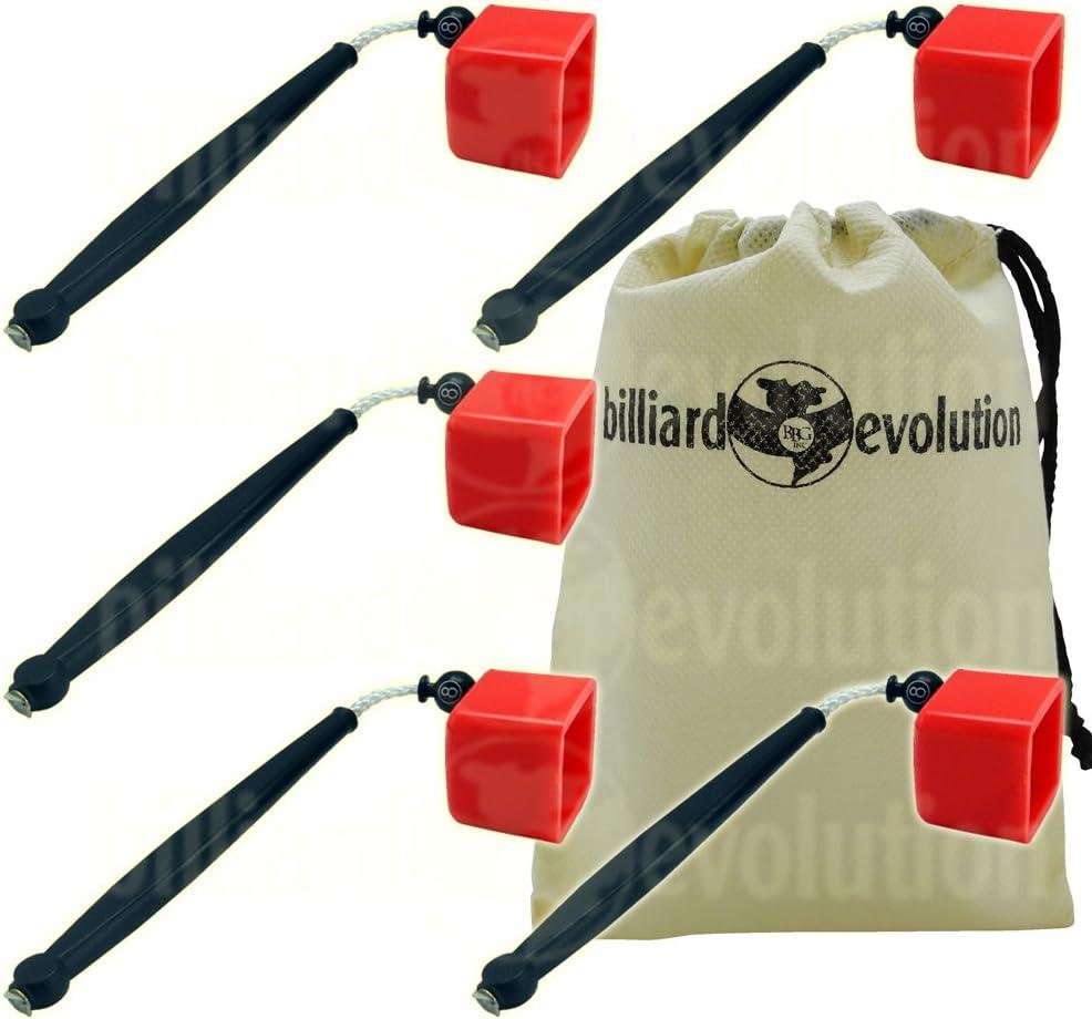 2 Red Pocket Chalkers-Pocket Chalk Holder//Chalker for Pool /& Billiards Cue Chalk