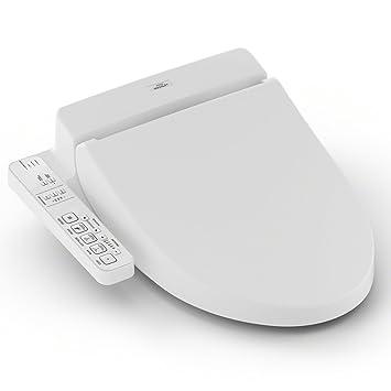 Miraculous Toto Sw2033R01 Washlet C100 Electronic Bidet Toilet Seat With Premist Round White Sw2033R Round Cotton White Machost Co Dining Chair Design Ideas Machostcouk