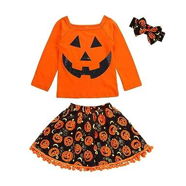 H.eternal - Falda - para bebé niña Naranja Naranja 1-3 años ...