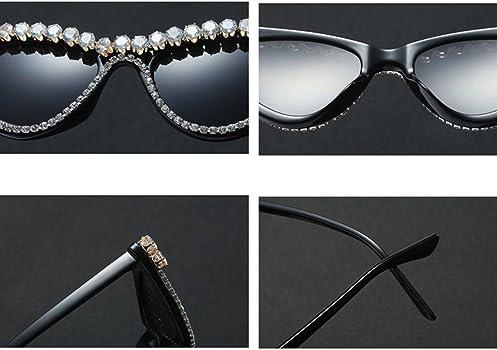80c262d148b Amazon.com  Kachawoo rhinestone cat eye sunglasses small black ...