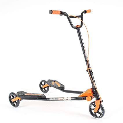 Y Fliker Scooter >> Amazon Com Yvolution Y Fliker Carver C5 Kids Adult Drifting