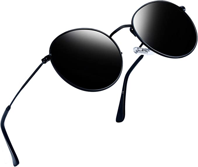 Amazon.com: Joopin Anteojos de sol polarizados redondos ...