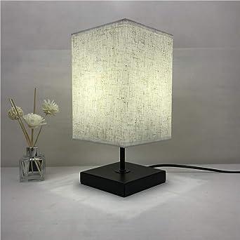 Linge en bois massif lampe carrée lampe de table chambre