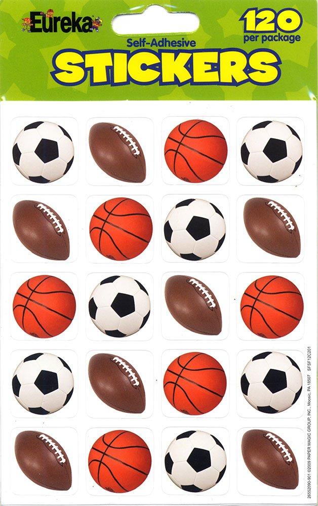 Eureka Mixed Sports Stickers