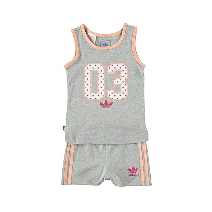 super popular buen servicio nuevos productos calientes adidas - Conjunto Deportivo - para bebé niña Gris Grey/Pink ...