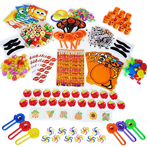 372-Piece Fall Festival Carnival Prizes Small Bulk Toy Assortment For School And Church Kids, Harvest Fest, Goody Bags, and Party ()