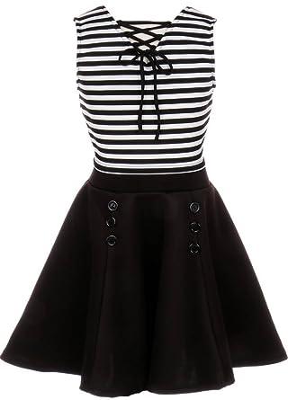 ec83caf2831 BNY Corner Flower Girl Dress Ottoman Striped Crop Top   Flyer Skirt For  Little Girl Black
