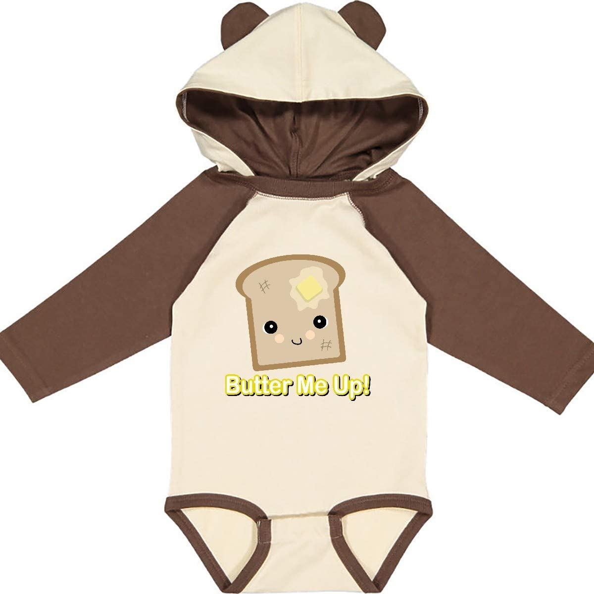 inktastic Butter Me Up Toast Long Sleeve Creeper
