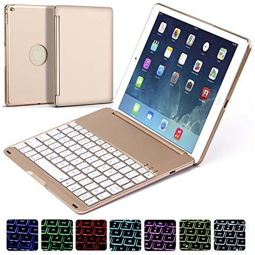 Ipad Air 2 Keyboard Case, NOVT Aluminum Alloy Ultra Thin ...