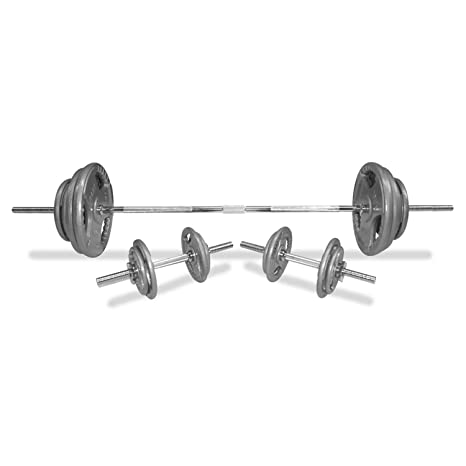 Bodypower 100 kg 152,4 cm Tri-Grip SPINLOCK Set de pesas con barra