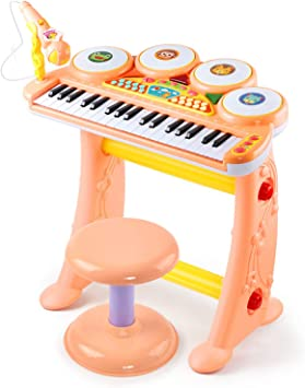 QPPWJ- Niños del Teclado De Piano, Piano 37 Teclas De Doble ...