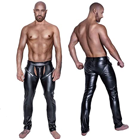 enjoy discount price price reduced classic shoes Amazon.com : XSQR Men Leather Pants Skinny Erotic Lingerie ...