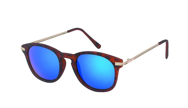 Des lunettes de soleil Chic-net rondes John Lennon 400UV pont serrure Retro repassage d'orange réfléchissante mince xEMlRXG6