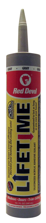 Red Devil 085630 Lifetime Siliconized Acrylic Adhesive Sealant, 10.1-Ounce, Cedar