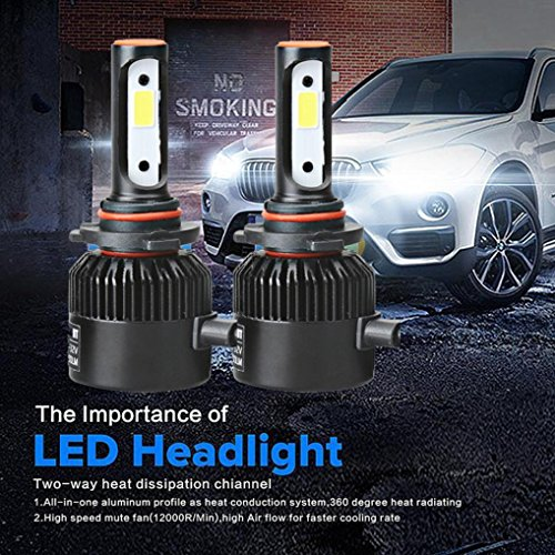 110w Solar Kit (DZT1968 1 Set/2pc 110W 9005 COB 3250LUX 3500CD CREE LED 20000LM Auto Car Headlights Kit Driving Bulbs Lamps 6000K)