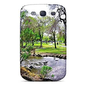 Snap-on Stream Through The Park Case Cover Skin Compatible With Galaxy S3 by runtopwell