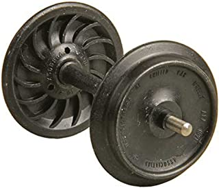"""product image for Ribbed-Back Metal Wheelsets -- 33"""" Diameter for 1/29 Scale or 36"""" for 1/32 (#1) Scale (black) 1 Set"""