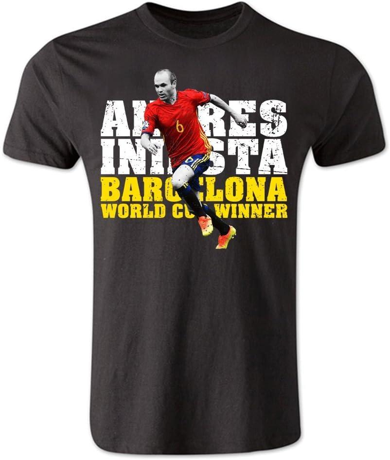 Andres Iniesta Barcelona Player – Camiseta (Black), negro: Amazon.es: Deportes y aire libre