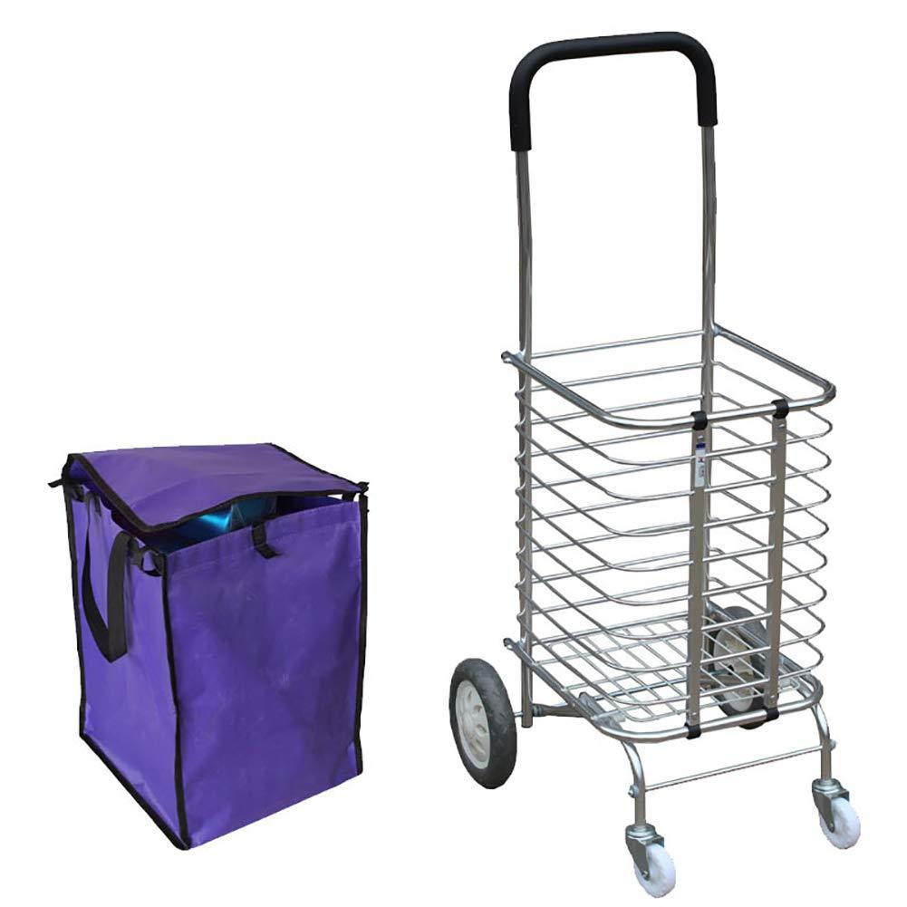 春新作の 軽量のショッピングカート、穏やかなゴム製の折り畳み式のショッピングカート、航空アルミニウムの軽量素材、簡単な収納のための安定した高荷重ベアリング。 B07H96SGVC B07H96SGVC purple(1), 金貨と銀貨&純金アクセの-SPACE-:3532ba06 --- martinemoeykens.com