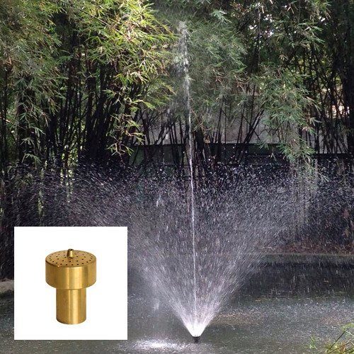 Aquacade Fountains Brass DN40 1 1/2'' Extended Cluster Fountain Nozzle