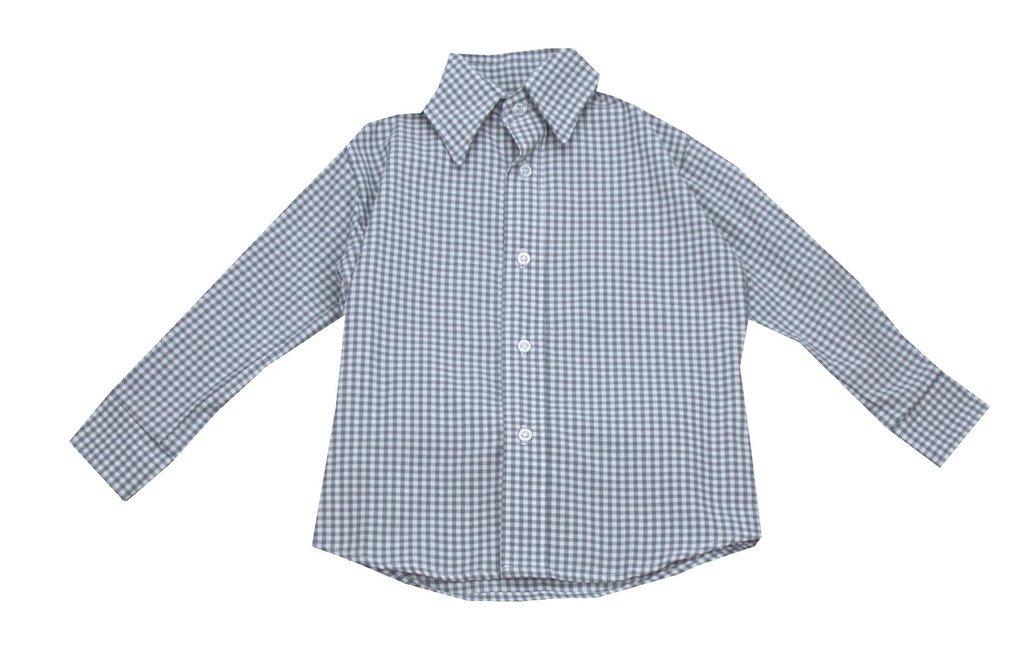 Glorimont Gray Check Shirt- Boy's Size 10