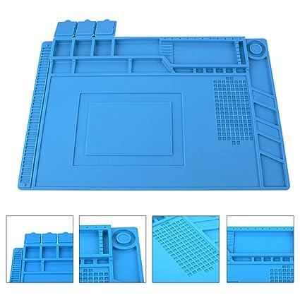 lötmatte silicona para soldadura magnética Proyecto trabajo Pad Mantenimiento Plataforma escritorio Estera Aislamiento resistente al calor