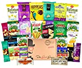 Cheap GLUTEN FREE and VEGAN Healthy Snacks Care Package (28 Ct): Plant-Based Snacks, Bars, Chips, Crispy Fruit, Nuts Trail Mix, Gift Box Sampler, Office Variety, College Student Care Package, Gift Basket