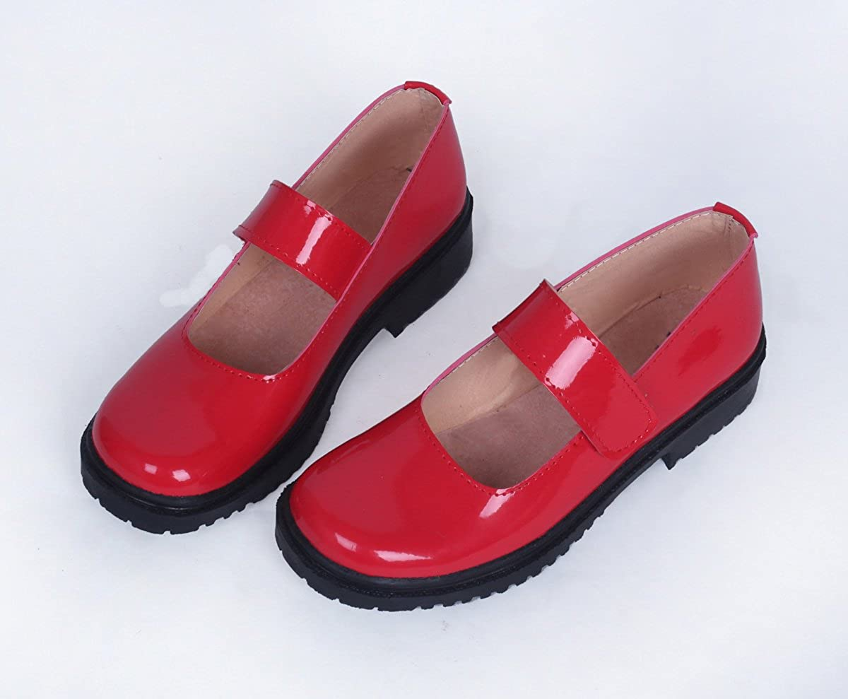 YuanCos Bungo Stray Dogs Girls Summer Red Mary Jane Cosplay Shoes S008