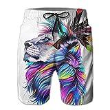 Xuwu Lion Tribe Drive Away The Summer Hot Men Funny Beach Board Short Casual Shorts